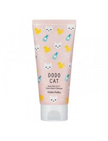 Espuma Limpiadora 3 en 1 DODO CAT Trans Foam Holika Holika