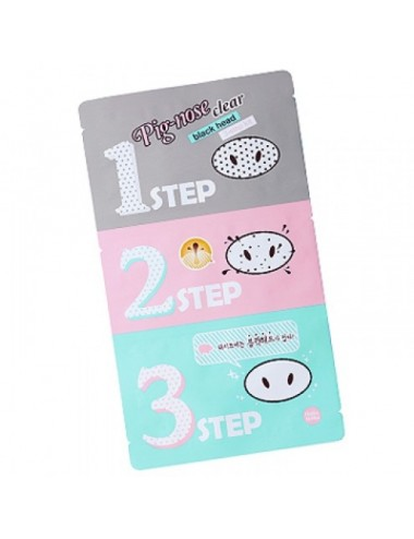 Holika Holika Kit Anti Puntos Negros Pig Nose Clear Blackhead 3 Step