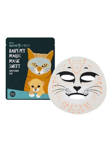 Holika Holika Mascarilla Calmante Baby Pet Magic Mask Sheet Shooting Cat