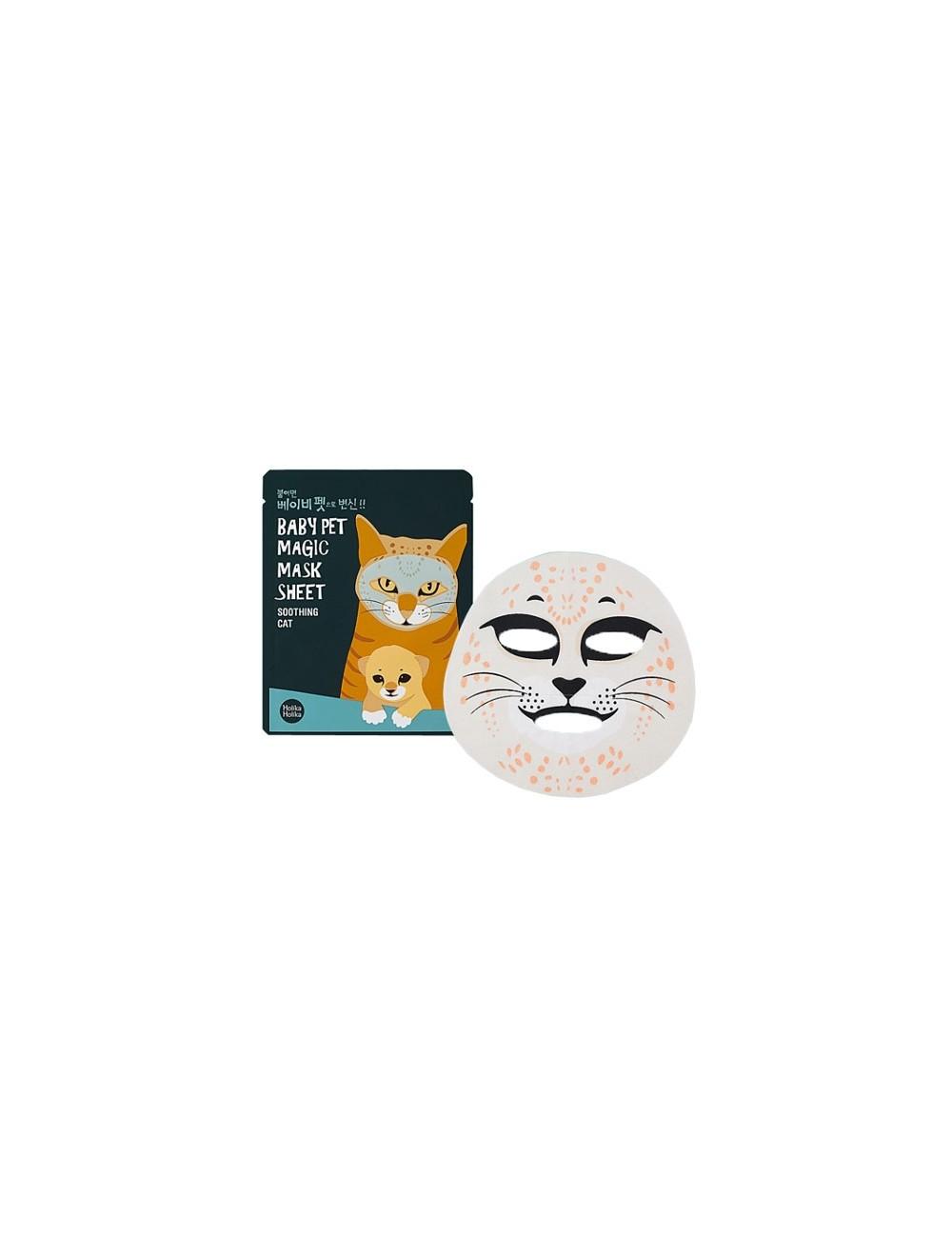 Holika Holika Mascarilla Calmante Baby Pet Magic Mask Sheet Shooting Cat