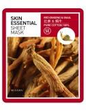 Mascarilla Revitalizante y Regenerante Missha Skin Essential Sheet Mask Red Ginseng & Snail