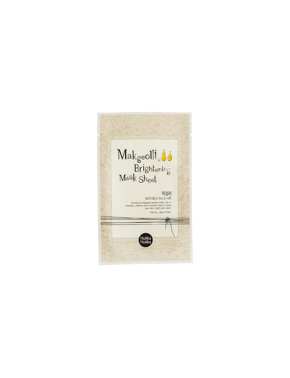 Holika Holika Mascarilla Iluminadora y Anti manchas Makgeolli Brightening Mask Sheet