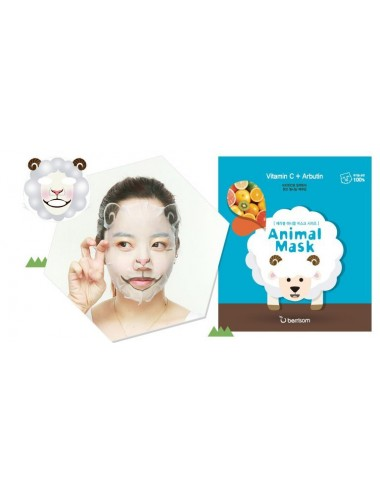 Mascarilla Anti-Manchas Berrisom Animal Mask Series Sheep