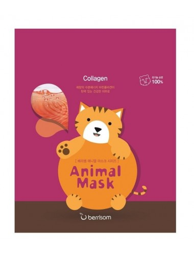 Mascarilla Reafirmante Berrisom Animal Mask Series Cat