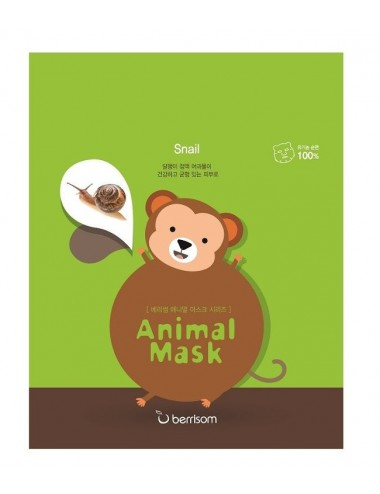 Mascarilla Nutritiva y Regenerante Berrisom Animal Mask Series Monkey