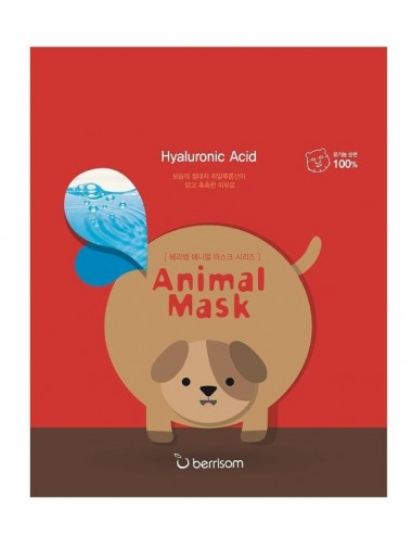 Mascarilla Hidratante Berrisom Animal Mask Series Dog