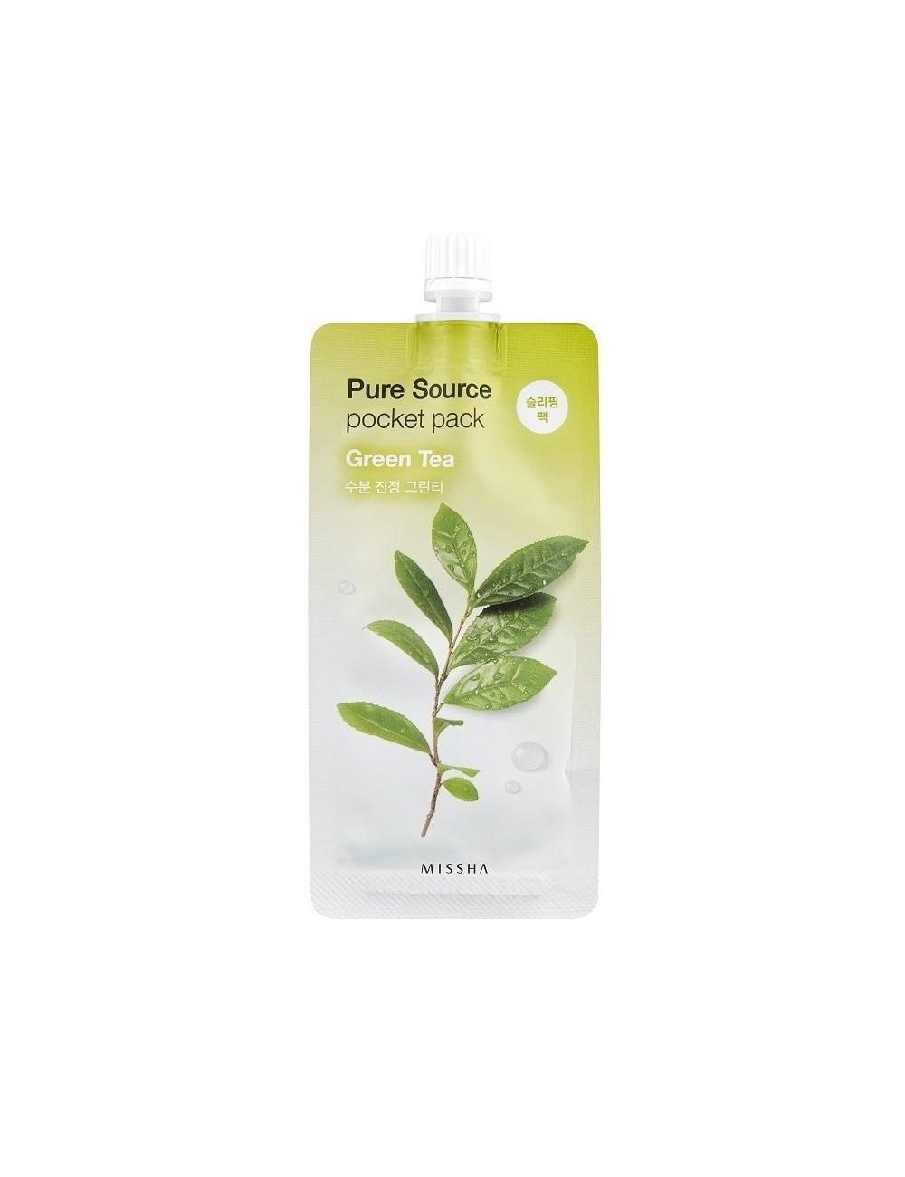 Mascarilla Calmante MISSHA Pure Source Pocket Green Tea (Té verde)