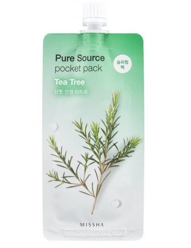 Mascarilla Purificante MISSHA Pure Source Pocket Pack Tea Tree (Árbol de Té)