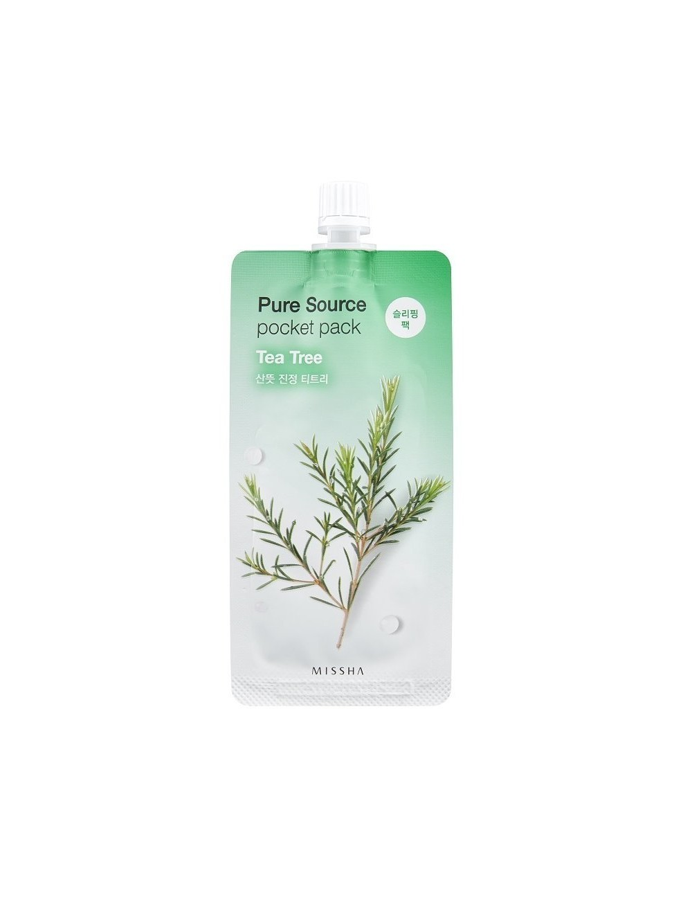 Mascarilla Purificante MISSHA Pure Source Pocket Tea Tree (Árbol de Té)