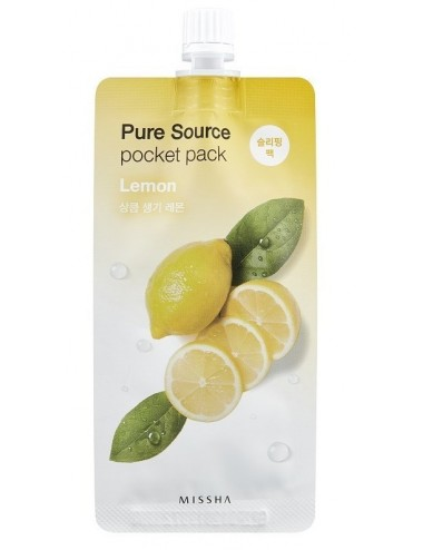 Mascarilla Revitalizante MISSHA Pure Source Pocket Pack Lemon (Limón)