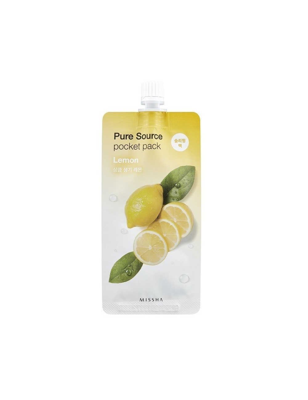Mascarilla Revitalizante MISSHA Pure Source Pocket Lemon (Limón)