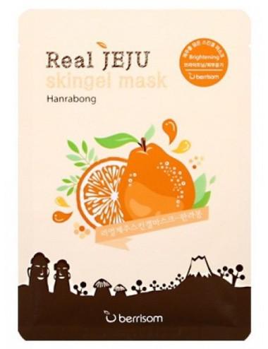 Mascarilla Hidratante Berrisom Real Jeju Skingel Mask Hanrabond