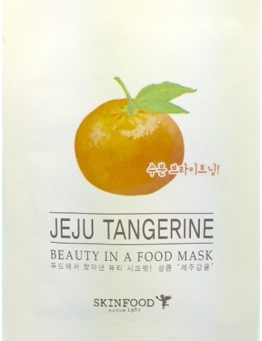 Mascarilla Iluminadora SKINFOOD Beauty in a Food Mask Jeju Tangerine