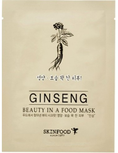 Mascarilla Anti-arrugas SKINFOOD Beauty in a Food Mask Ginseng
