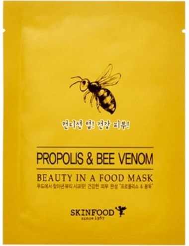 Mascarilla Anti-arrugas  y Anti-imperfecciones SKINFOOD Beauty in a Food Mask Propolis & Bee Venom