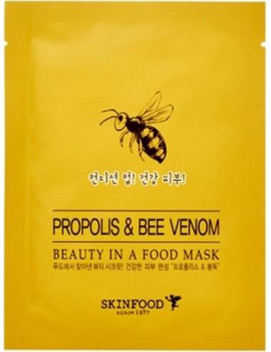 Mascarilla Anti-arrugas  y Anti-imperfecciones SKINFOOD Beauty in a Food Mask Propolis & Bee Venom