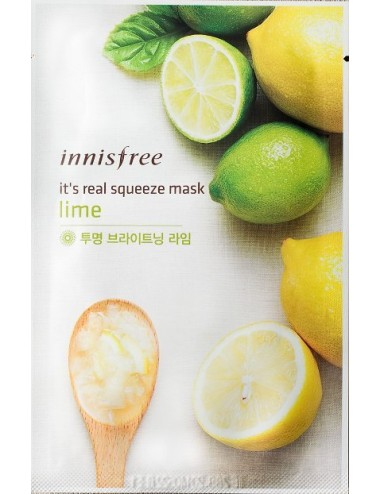 Mascarilla Iluminadora Innisfree It's Real Squeeze Mask Lime
