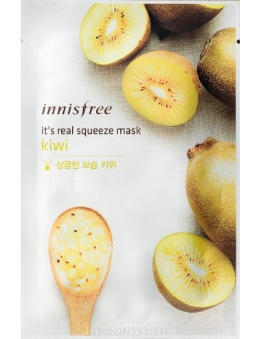 Mascarilla Iluminadora Innisfree It's Real Squeeze Mask Kiwi