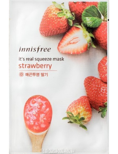 Mascarilla Iluminadora y Antimanchas Innisfree It's Real Squeeze Mask Strawberry