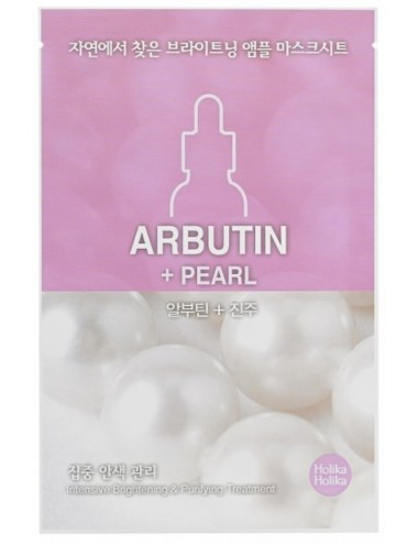 Mascarilla Anti-Manchas Holika Holika Pearl Ampoule Essence Mask Sheet