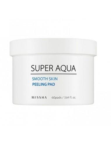 Exfoliante Facial MISSHA Super Aqua Smooth Skin Peeling Pad