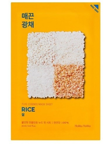 Mascarilla Anti-Manchas Iluminadora Holika Holika Pure Essence Mask Sheet Rice