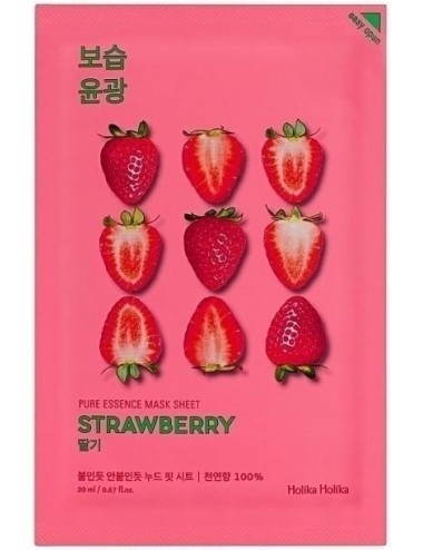 Mascarilla Iluminadora Holika Holika Pure Essence Mask Sheet Strawberry
