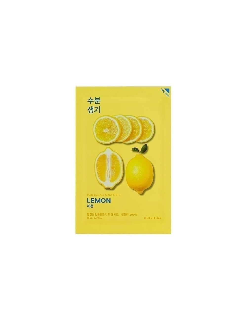 Mascarilla Iluminadora Holika Holika Pure Essence Mask Sheet Lemon