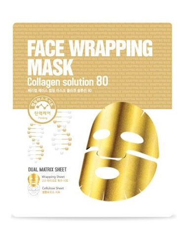 Mascarilla Refirmante y Anti-Arrugas Berrisom Face Wrapping Mask Collagen Solution 80