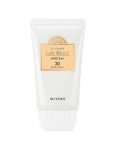 Crema Solar para piel sensible  Missha All Around Safe Block Mild Sun SPF 30 PA++