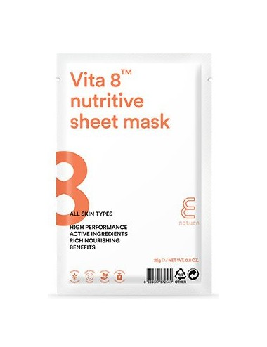 Mascarilla Nutritiva E NATURE Vita 8 Nutritive Sheet Mask