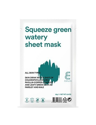 Mascarilla Hidratante E NATURE Squeeze Green Watery Sheet Mask