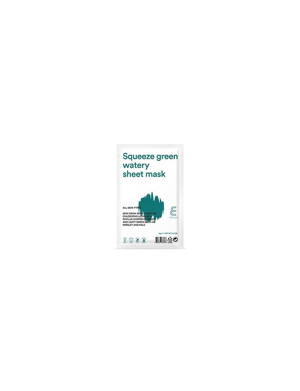 Mascarilla Hidratante E NATURE Squeeze Green Watery Sheet Mask