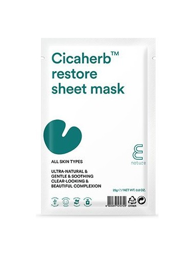 Mascarilla Calmante  E NATURE Cicaherb Restore Sheet Mask