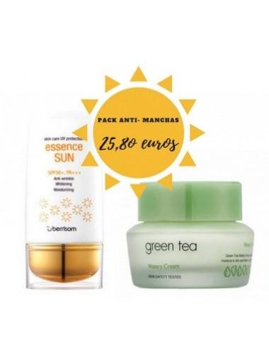 Pack Anti-manchas Verano - Crema de Té Verde + Protección Solar