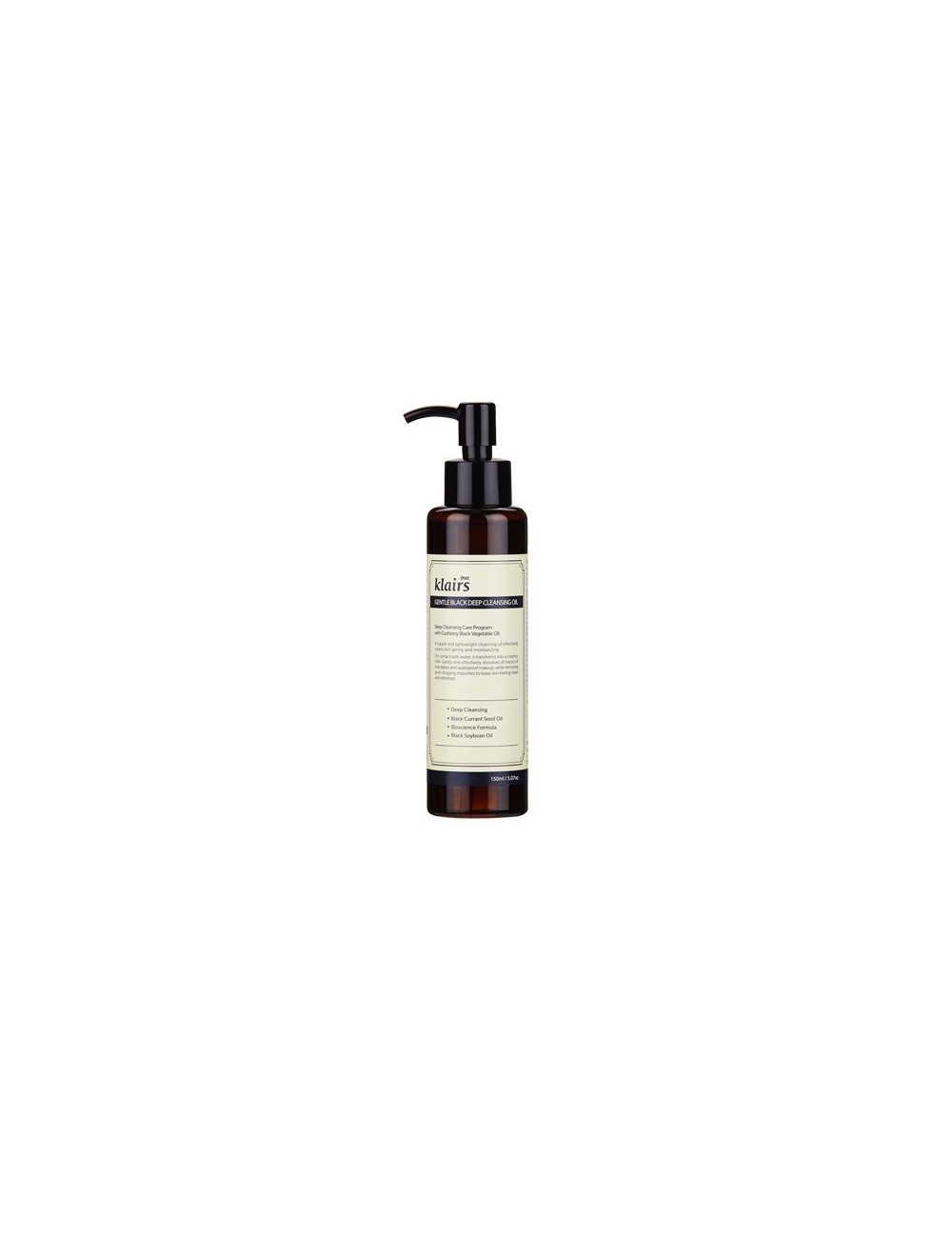 Aceite Limpiador y Desmaquillante Klairs Gentle Black Deep Cleansing Oil