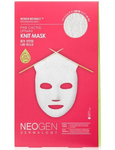 Mascarilla Lifting NEOGEN DERMALOGY Pink Cactus Liftmax Knit Mask