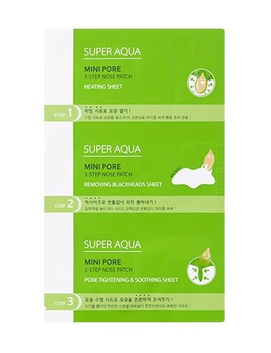 Kit Anti Puntos Negros Missha Super Aqua Mini Pore 3-Step Nose Patch