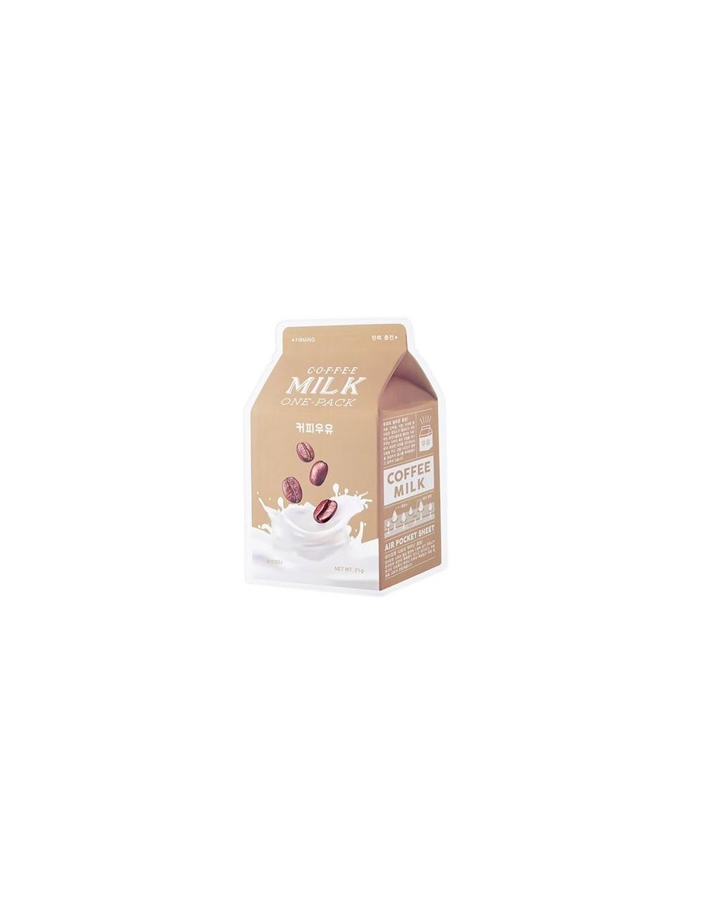 Mascarilla Reafirmante A'pieu Coffee Milk Sheet Mask