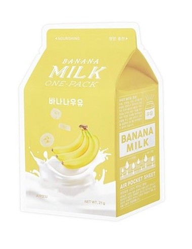 Mascarilla Nutritiva A'pieu Banana Milk Sheet Mask