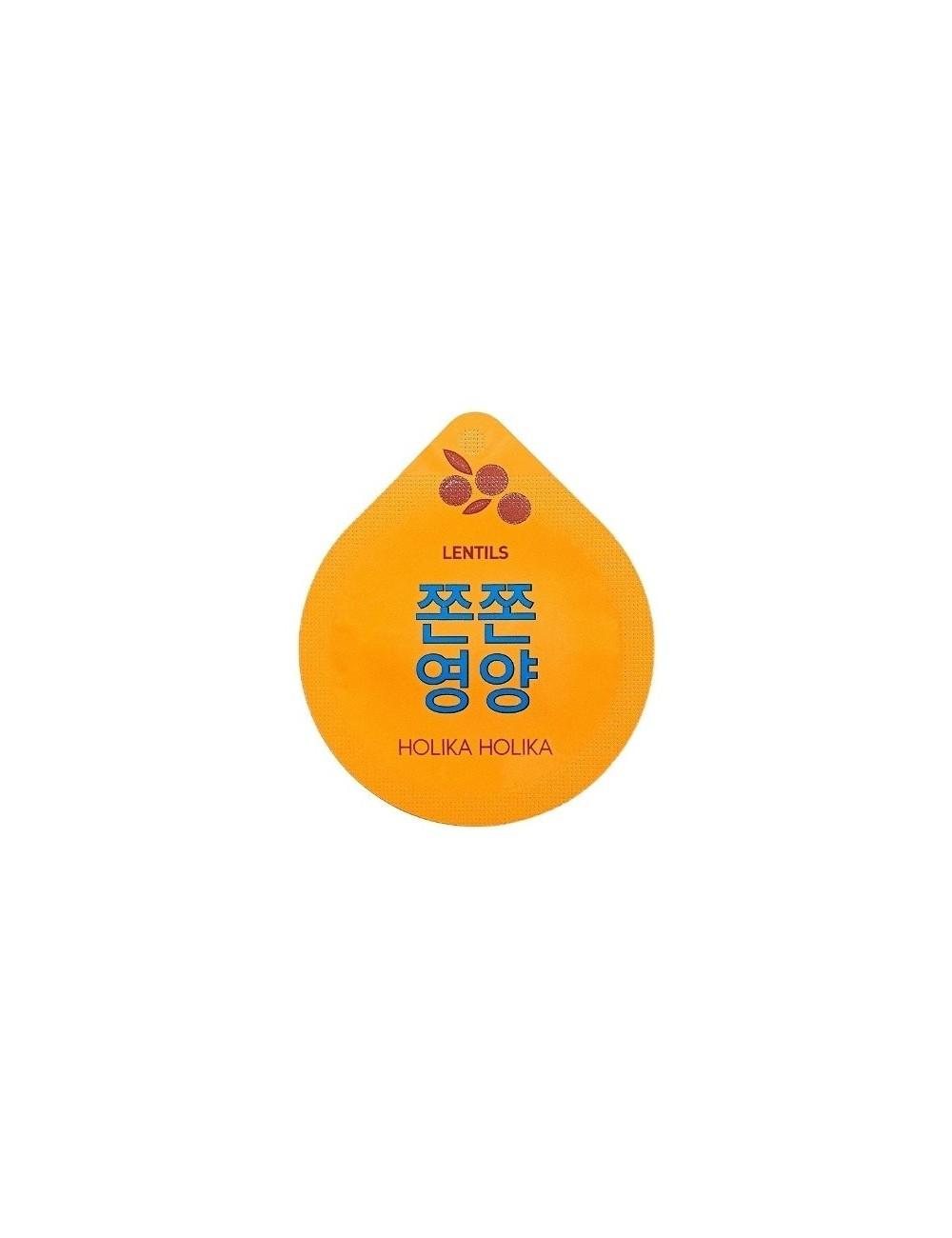 Mascarilla Nocturna Reafirmante Holika Holika Super Food Capsule Pack Lentils (Lentejas)
