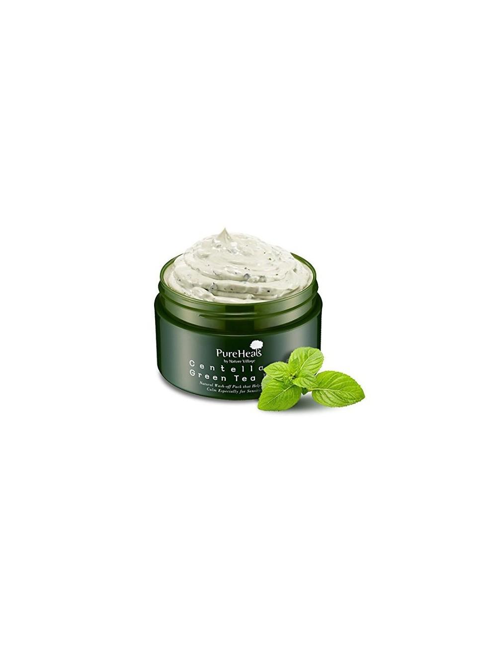 Mascarilla Hidratante y Purificante PureHeals Centella 65 Green Tea Pack
