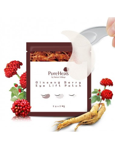 Parches para Contorno de Ojos Antiedad PureHeals Gingseng Berry Eye Lift Patch