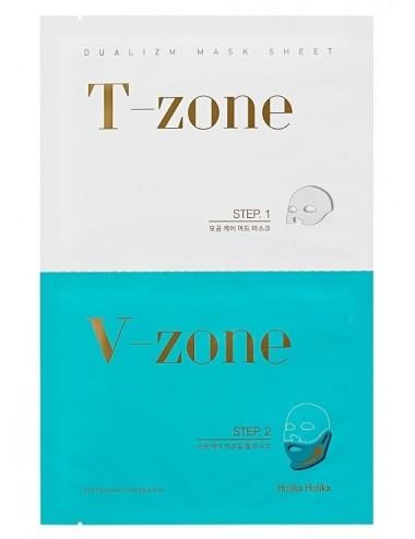 Mascarillas de Cuidado de Poros + Lifting Holika Holika Dualizm Mask Sheet T-Zone - V-Zone