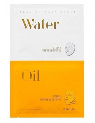 Holika Holika Mascarillas Hidratante y Lifting  Dualizm Mask Sheet Water Oil