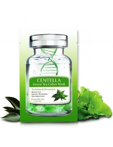 Mascarilla Regenerante Pureheals Centella Green Tea Callus Mask