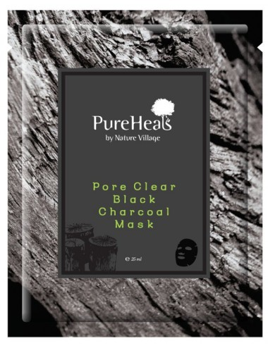 Mascarilla Purificante Pureheals Pore Clear Black Charcoal Mask