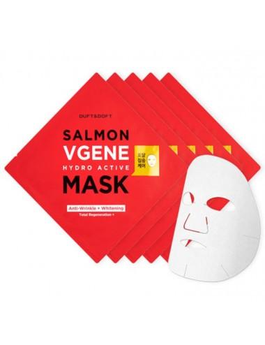 Mascarilla Anti-Edad y Anti-Manchas Duft & Doft Salmon Vgene Hydro Active Mask