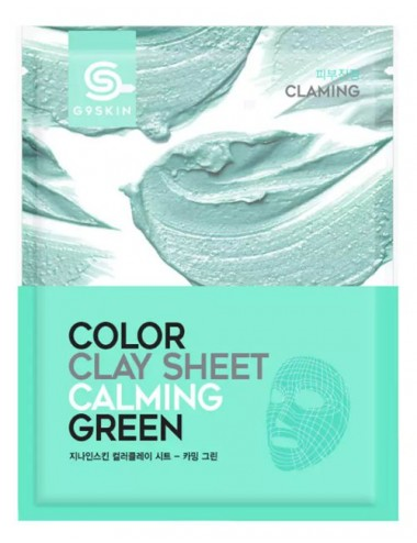 Mascarilla Calmante de Arcilla G9SKIN Color Clay Sheet Calming Green