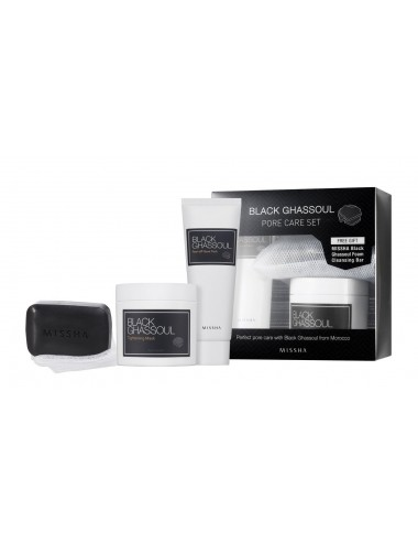 Set Anti Puntos Negros Missha Black Ghassoul Pore Care Set
